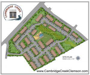 Cambridge Creek Townhomes site map